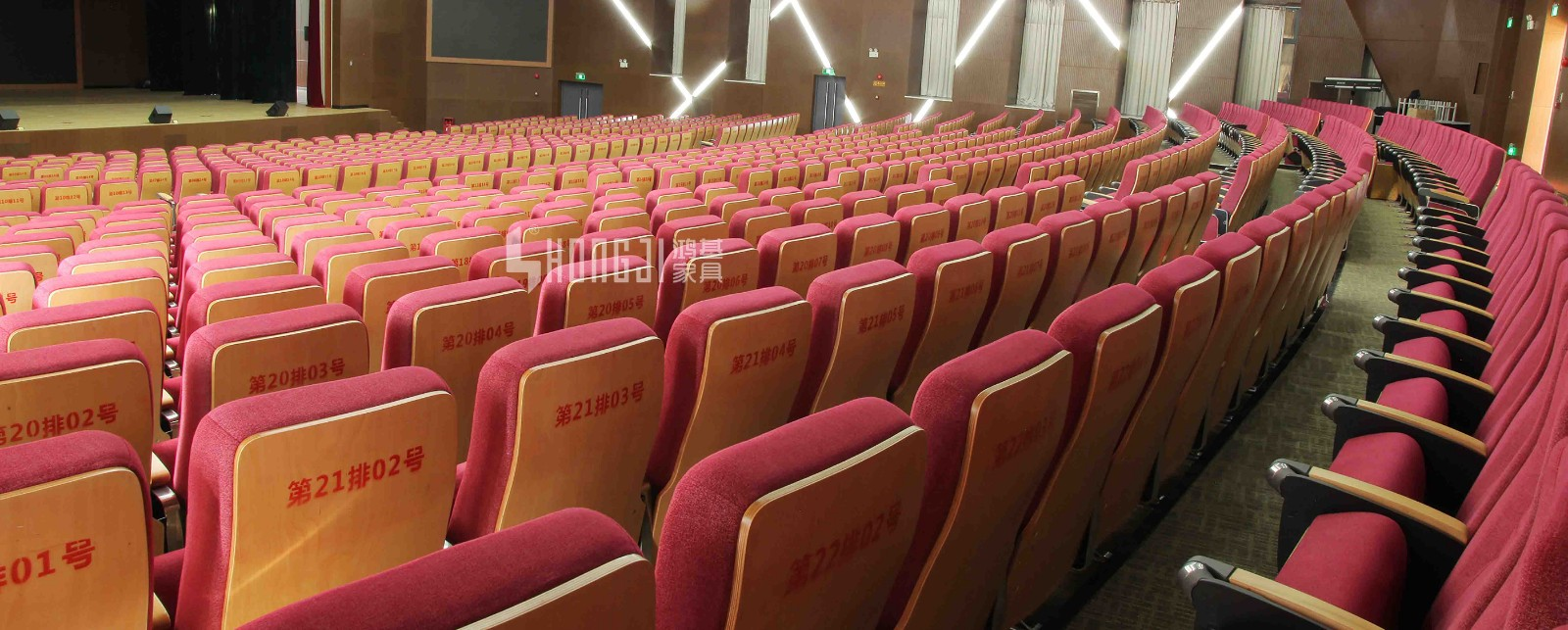 HONGJI outstanding durability 4 piece theater seating supplier for cinema-12
