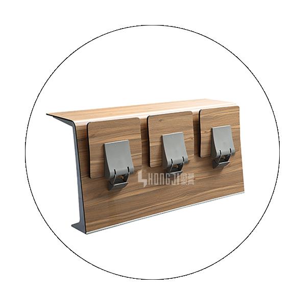HONGJI chairs modern classroom furniture curved university