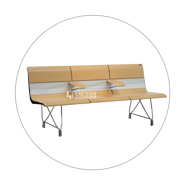 HONGJI h63b4t waiting room bench seating public seating solution for bank-5