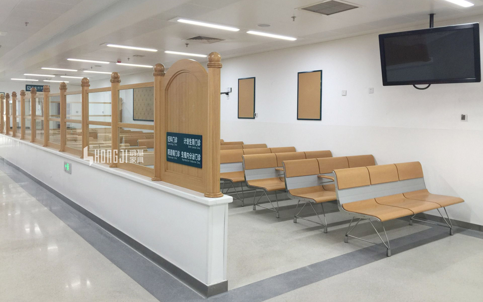 HONGJI h63b4t waiting room bench seating public seating solution for bank-14