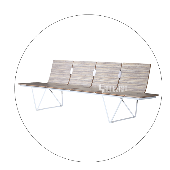 HONGJI h60b3 waiting room bench seating public seating solution for hosiptal