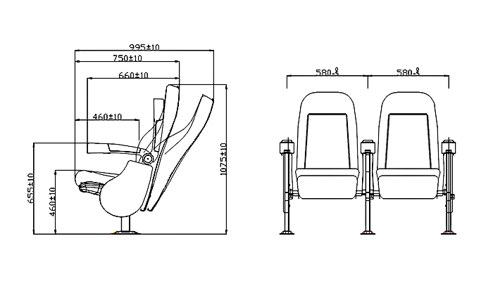 HONGJI fashionable home theater recliners factory for sale-1