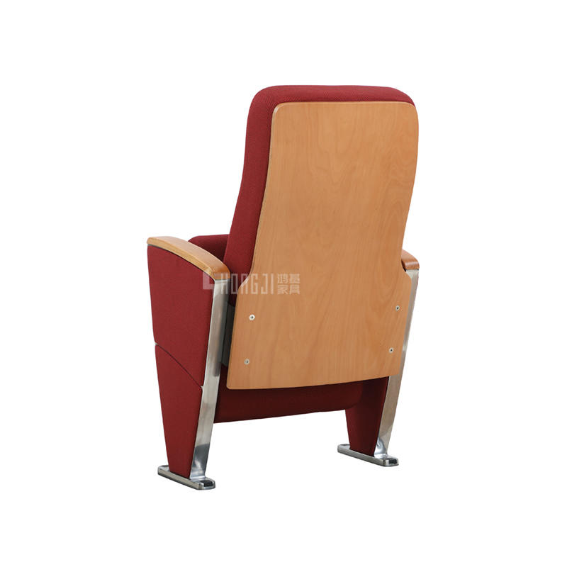 High-grade aluminum auditorium chair public seating with writing tablet  HJ9933