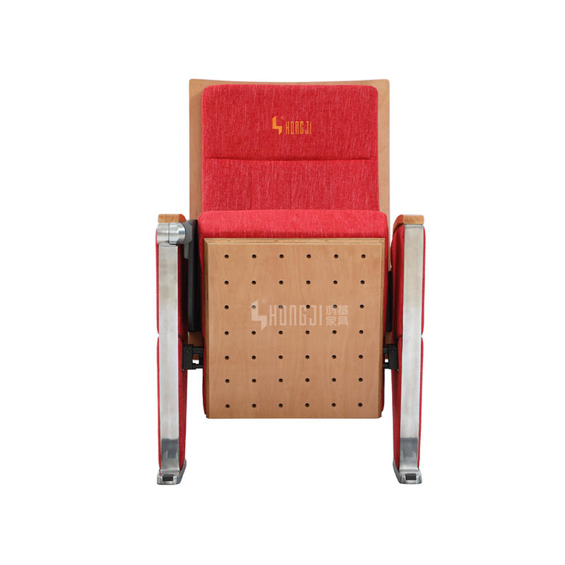 High-grade aluminum auditorium chair public seating with writing tablet HJ9934