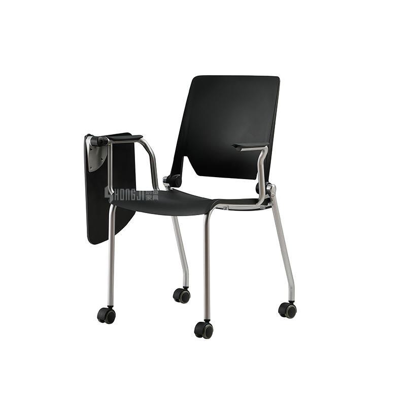 Simple training chair  conference chair with clipboard and  casters GW-D01