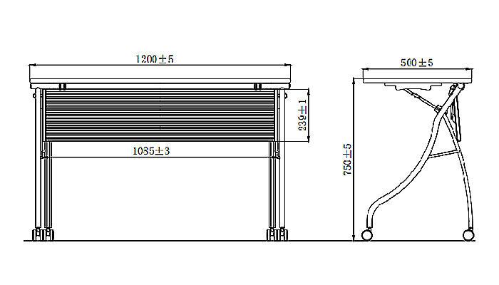 HONGJI foldable training table factory for student