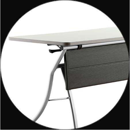 HONGJI foldable training table factory for student-7