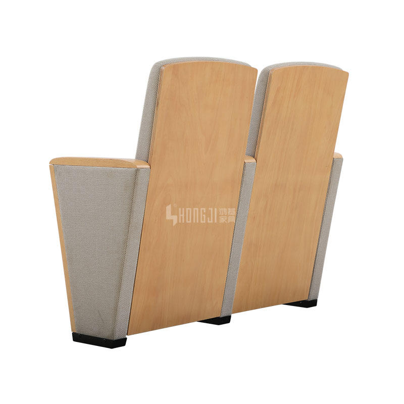 Elegant and concise wooden auditorium chair HJ8005D for auditoriums and opera houses