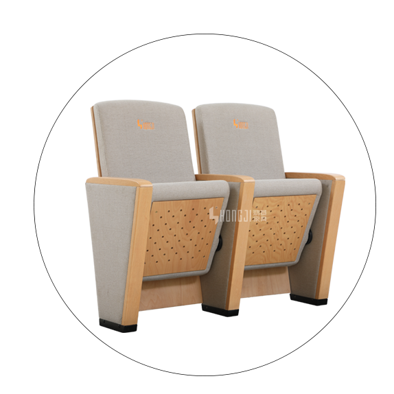 HONGJI newly style real leather theater seating factory for student-5