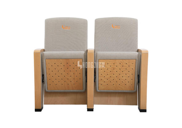 HONGJI newly style real leather theater seating factory for student