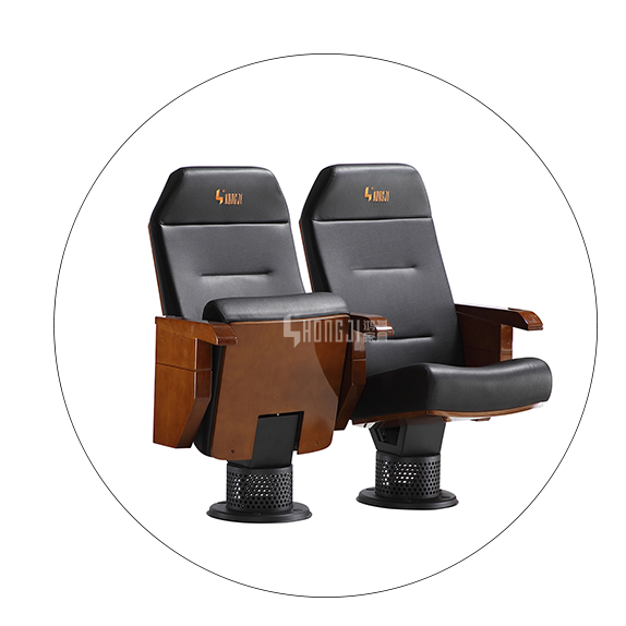 HONGJI high-end black theater chairs factory for student-5