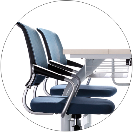 HONGJI ISO14001 certified class desk supplier fpr classroom-2