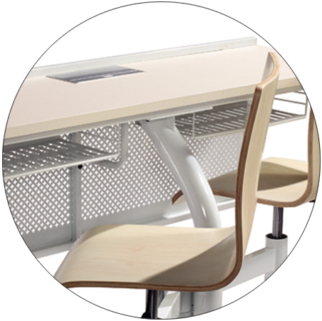 HONGJI ISO14001 certified school tables tc008 for university