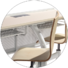 HONGJI ergonomic student desk chair combo supplier for high school