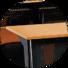 HONGJI ISO14001 certified school desk dimensions manufacturer for high school