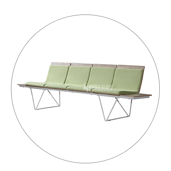 HONGJI h73a4ft waiting room bench seating public seating solution for bank