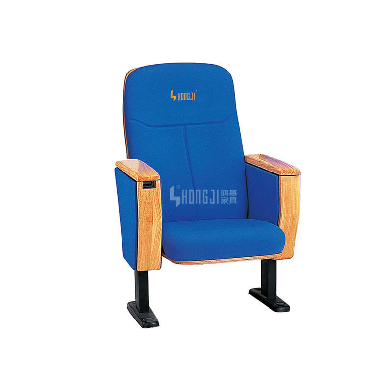 Wooden cover auditorium hall theater type seat with writing tablet HJ18