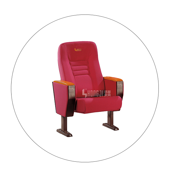 Tip-up Seat Fabric Back Auditorium Chair With Writing Pad HJ58A-5