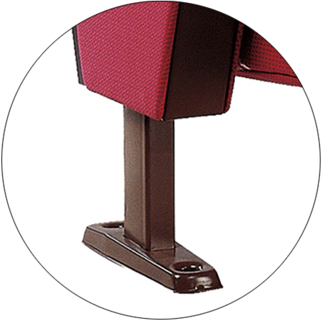 Tip-up Seat Fabric Back Auditorium Chair With Writing Pad HJ58A-4