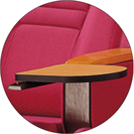 Tip-up Seat Fabric Back Auditorium Chair With Writing Pad HJ58A-6