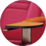 Tip-up Seat Fabric Back Auditorium Chair With Writing Pad HJ58A