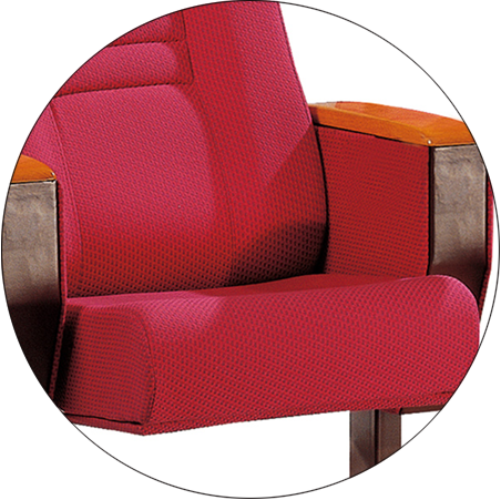 Tip-up Seat Fabric Back Auditorium Chair With Writing Pad HJ58A-8