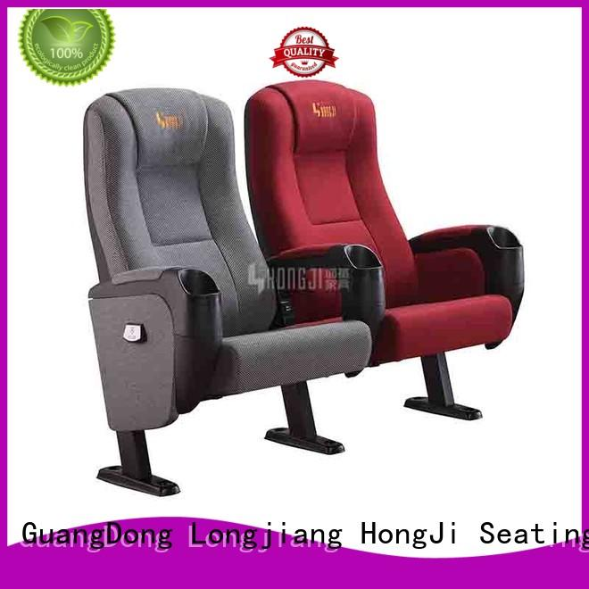 2018 Hot sale Hongji seating cinema chairs cinema with USB connection HJ9963