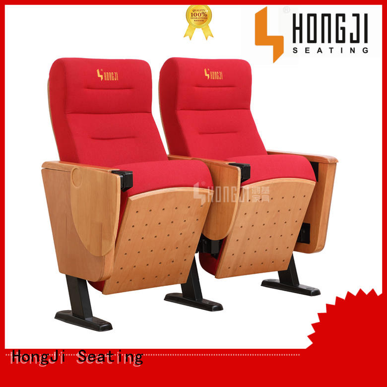 HONGJI red leather theater chairs manufacturer for cinema