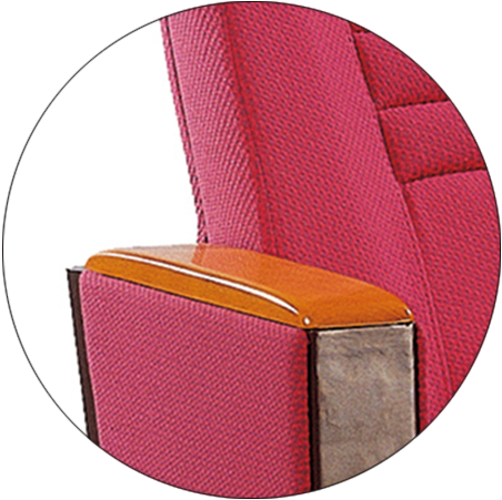 Tip-up Seat Fabric Back Auditorium Chair With Writing Pad HJ58A-3