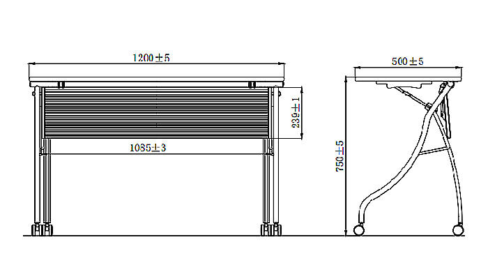 HONGJI foldable training table factory for student-1