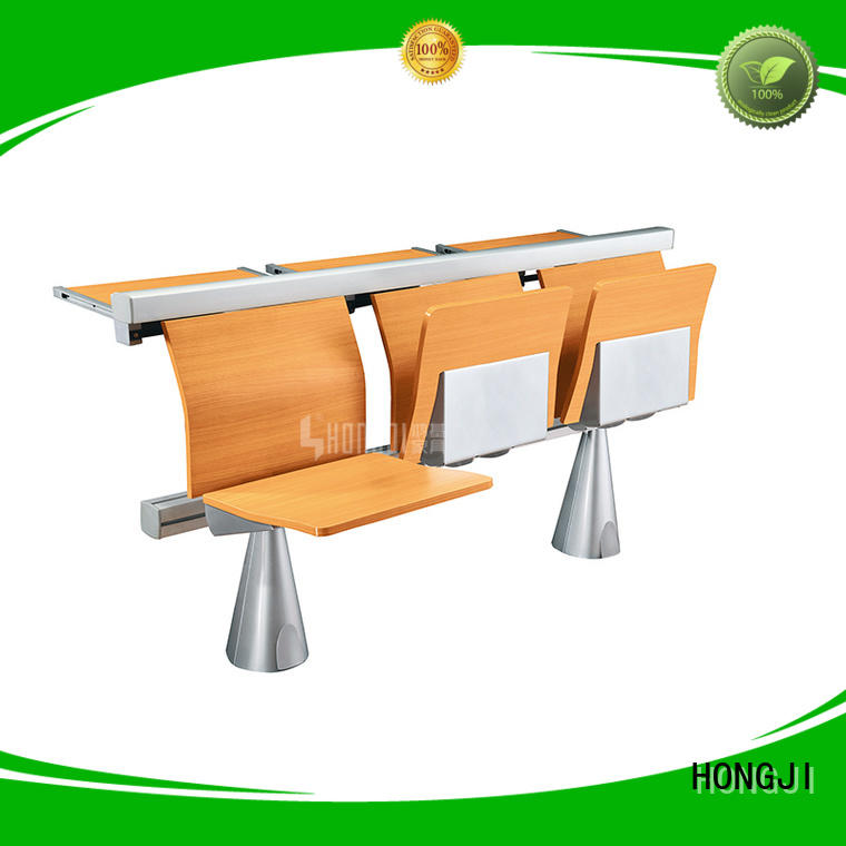 HONGJI ISO14001 certified study desk and chair supplier fpr classroom