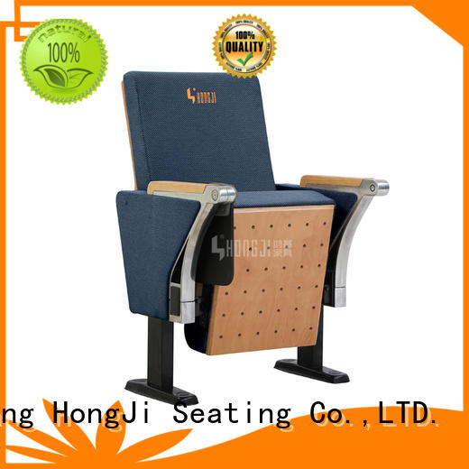 HONGJI unparalleled red leather theater seats supplier for office furniture